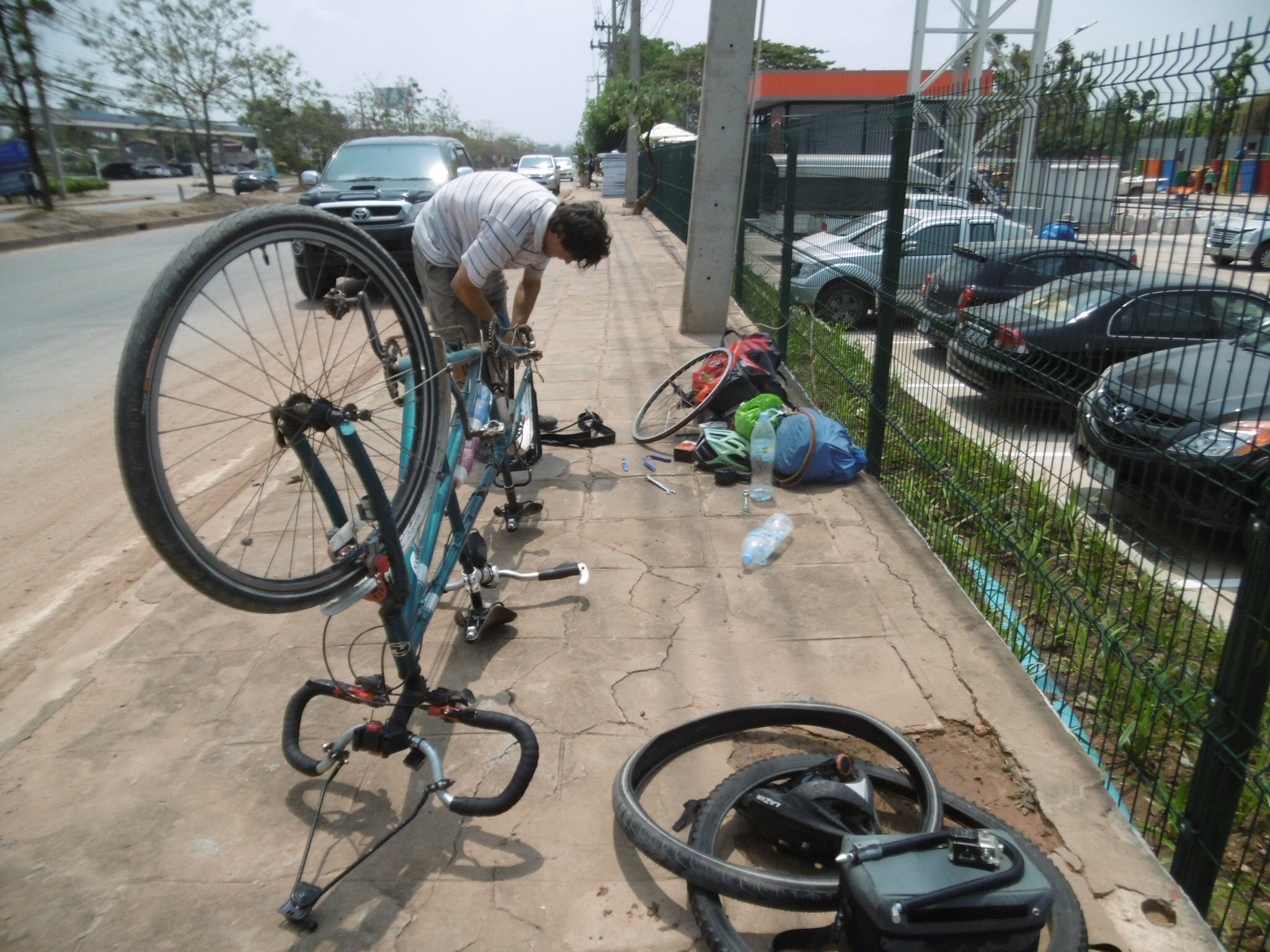 A puncture in Aranyaprathet, Thailand